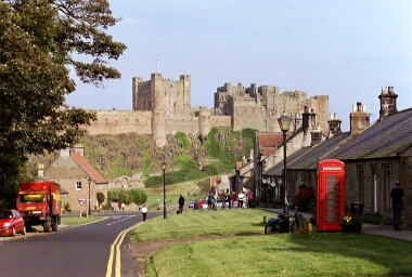 Walking the Northumberland Coast & Castle Path, Bamburgh Castle & Village
