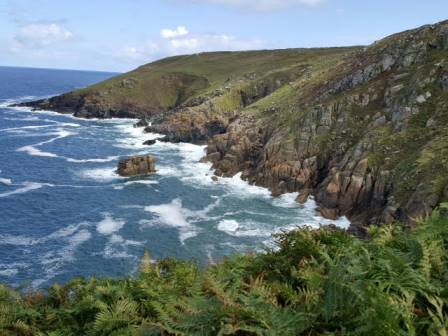 Photo by Jim Ward, a happy walker who walked this section in 2017. walking the Cornwall coast path from St Ives to Zennor