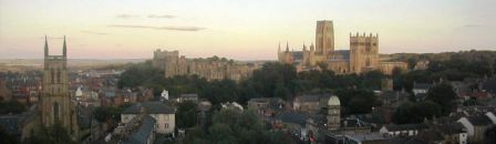 10 nights Walking Northumberland Coast and Castles Path Sunset over Durham City