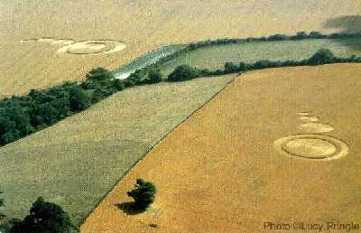 3 night Walking South Downs from Eastbourne England Crop circles discovered in the fields close to East Dean in Sussex
