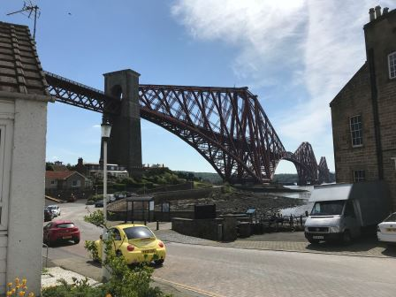 The start of the Fife Coast walk is at North Queensferry near Edinburgh Scotland