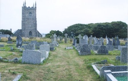 walking the Cornwall coast path from the village of Lelant with its lovely church to lands end, england.