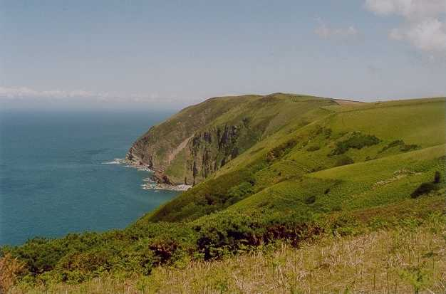 walk the somerset and Devon coast path Minehead on Exmoor national park