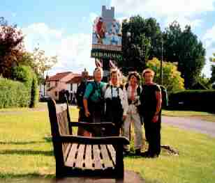 north pickenham village, ann davis, betsy weaver, robin hudnut, barbara johnson. walking in england the peddars way path in Norfolk