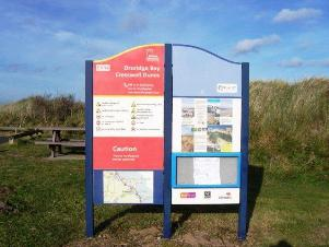 Walking the Northumberland Coast & Castle Path. Start of the Northumberland Coast Path at Cresswell