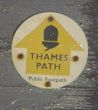 walking and hiking in england. 6 night the Thames path oxford to reading england. map of river Thames